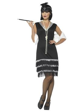 Adult Flapper Costume - Side View