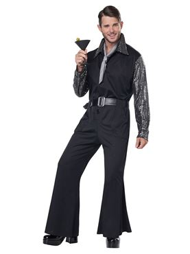 Adult Flashy 70s Style Jumpsuit Costume Couples Costume