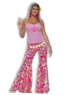 Adult Flower Power Flared Trousers