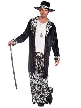 Adult Fly Guy Zebra Print Costume