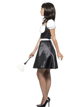 Adult French Maid Costume - Back View