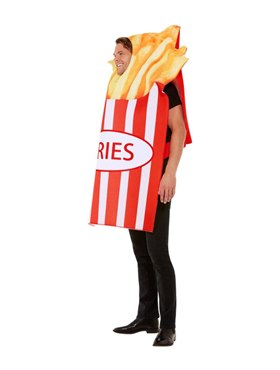 Adult Fries Costume - Back View