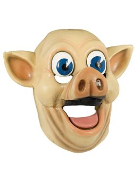 Adult Full Head Pig Mask - Back View