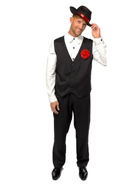 Adult Gangster Man Costume Couples Costume