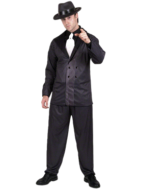 Adult Gangster Suit Costume Couples Costume