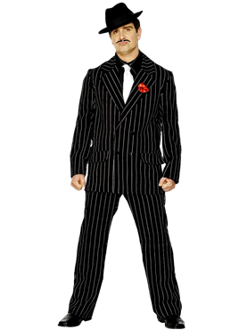 Adult Gangster Zoot Suit Costume Couples Costume
