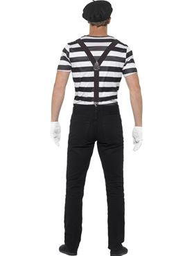 Adult Gentleman Mime Artist Costume - Side View