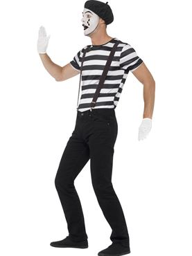 Adult Gentleman Mime Artist Costume - Back View