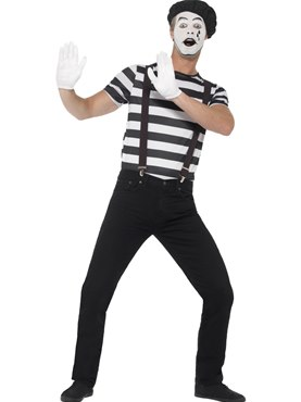 Adult Gentleman Mime Artist Costume Couples Costume