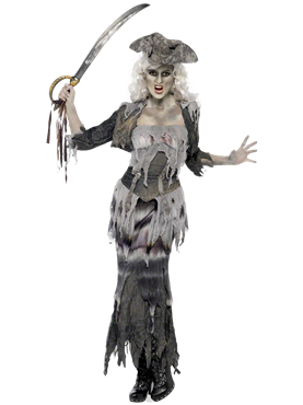 Adult Ghost Ship Ghoulina Costume Couples Costume