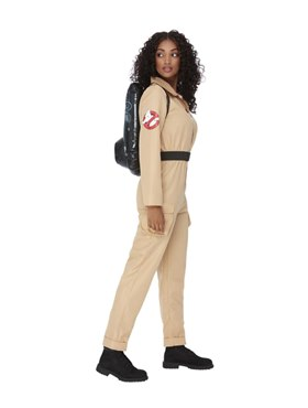 Adult Ghostbusters Ladies Costume - Back View