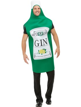 Adult Gin Bottle Costume Couples Costume