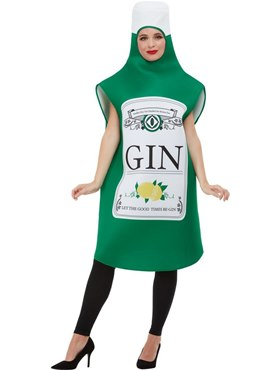 Adult Gin Bottle Costume - Back View