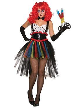 Adult Girlie Evil Clown Costume
