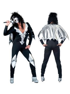 Adult Glam Rock Jumpsuit Costume