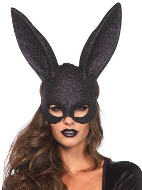Adult Glitter Masquerade Rabbit Mask