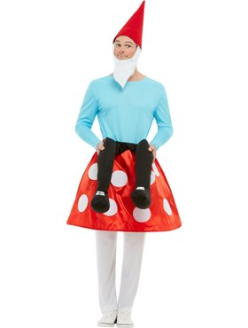 Adult Gnome Toadstool Costume - Back View