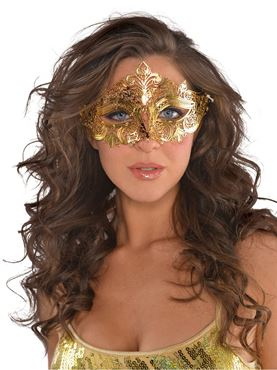 Adult Gold Filigree Mask