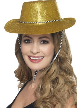 Adult Gold Glitter Cowboy Hat
