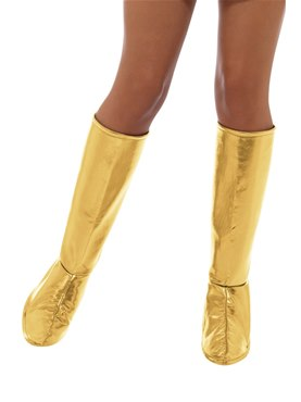 Adult Gold GoGo Boot Covers