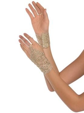 Adult Gold Lace Glovelettes