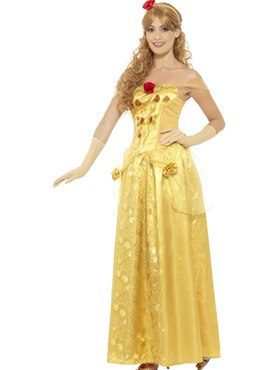 Adult Gold Princess Costume - Back View