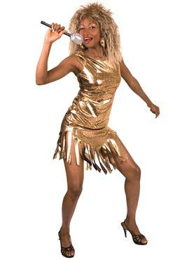 Adult Gold Rock Queen Costume