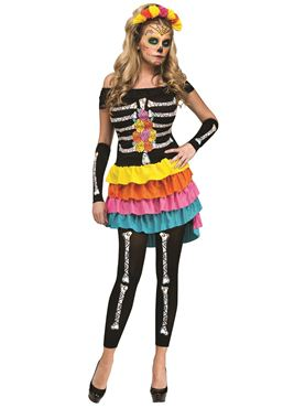 Adult Day of the Dead Dia De Los Mueros Costume