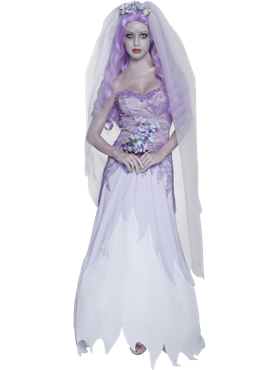 Adult Gothic Manor Ghost Bride Costume Couples Costume