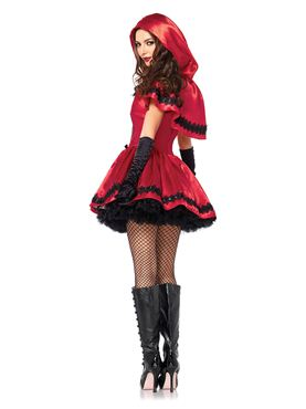 Adult Gothic Red Riding Hood Costume - Back View