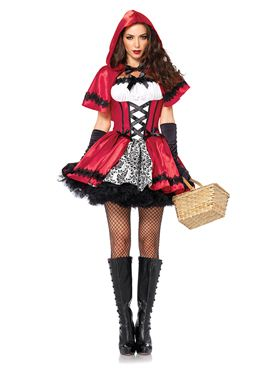 Adult Gothic Red Riding Hood Costume Thumbnail