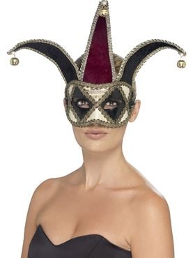 Adult Gothic Venetian Eyemask - Back View