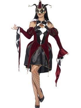 Adult Gothic Venetian Harlequin Costume