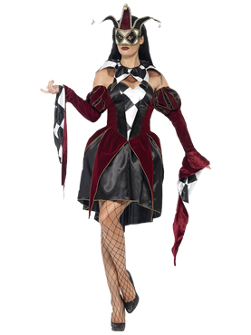 Adult Gothic Venetian Harlequin Costume Couples Costume