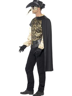 Adult Plague Doctor Costume - Back View