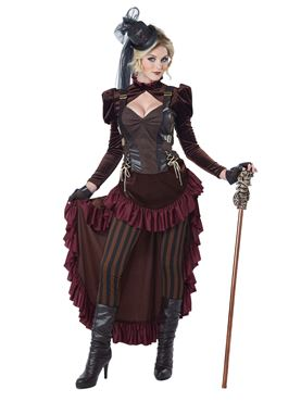 Adult Deluxe Victorian Steampunk Costume Couples Costume