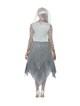 Adult Grave Yard Bride Costume1 - Side View