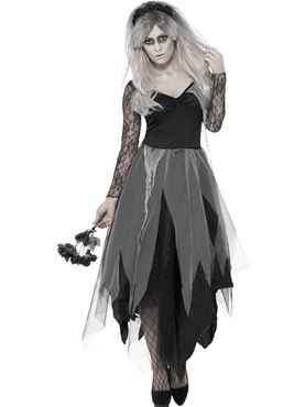 Adult Graveyard Bride Costume Couples Costume