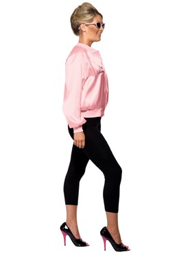 Adult Grease Pink Ladies Jacket - Back View
