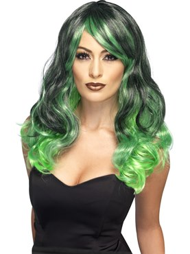 Adult Green Bewitching Ombre Wig