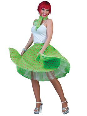 Adult Green Rock n Roll Skirt