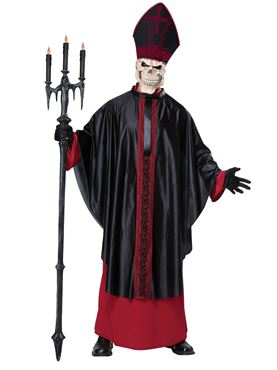 Adult Black Mass Costume