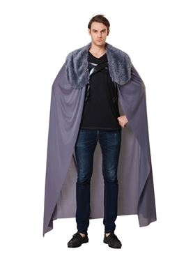 Adult Grey Cape with Fur Collar