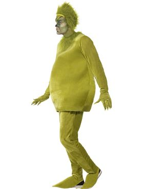 Adult Grinch Costume - Back View