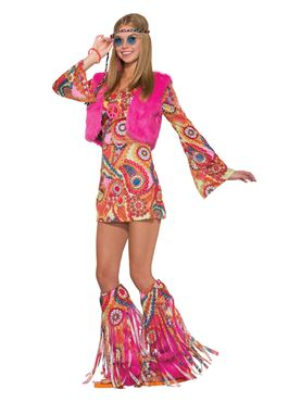 Adult Groovy Hippy Fur-rever Costume