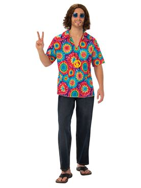 Adult Groovy Psychedelic Hippy Costume