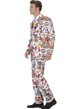 Adult Groovy Stand Out Suit - Back View