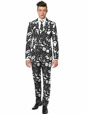 Adult Halloween Black Icons Suitmeister Suit