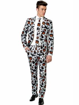 Adult Halloween Grey Icons Suitmeister Suit