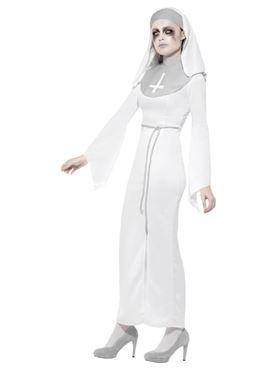 Adult Haunted Asylum Nun Costume - Back View